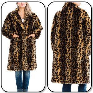 Cozy Leopard / Cheetah / Animal Print Teddy Coat